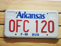 Used License Plate★ARKANSAS/アーカンソー★OFC 120