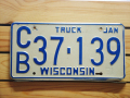 Used License Plate★WISCONSIN★CB37139