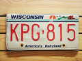 Used License Plate★WISCONSIN★KPG 815