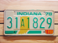Used License Plate★INDIANA/インディアナ★31A1829