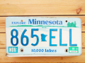 Used License Plate★MINESTA/ミネソタ★865 ELL
