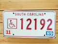 Used License Plate★South Carolina/サウスカロライナ★12192