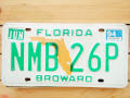Used License Plate★FLORIDA/フロリダ★NMB 26P