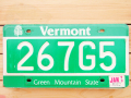 Used License Plate★VERMONT/ヴァ—モント★267G5