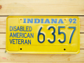 Used License Plate★INDIANA/インディアナ★6357