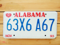 Used License Plate★ALABAMA/アラバマ★63X6A67