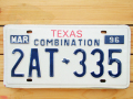 Used License Plate★TEXAS/テキサス★2AT 335