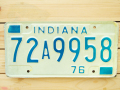 Used License Plate★INDIANA/インディアナ★72A9958