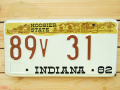 Used License Plate★INDIANA/インディアナ★89V31