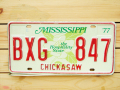 Used License Plate★MISSISSIPPI/ミシシッピ★BXG 847