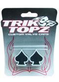 TorikTopz Air Valve Cap Black Spade★エア バルブ キャップ 4個 スペード 黒