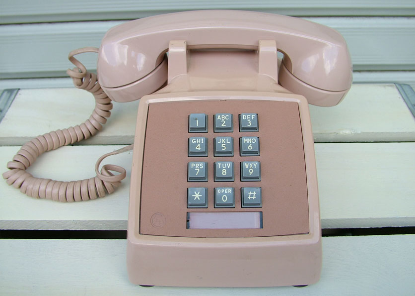 『ジャンク品』アメリカのプッシュ式電話