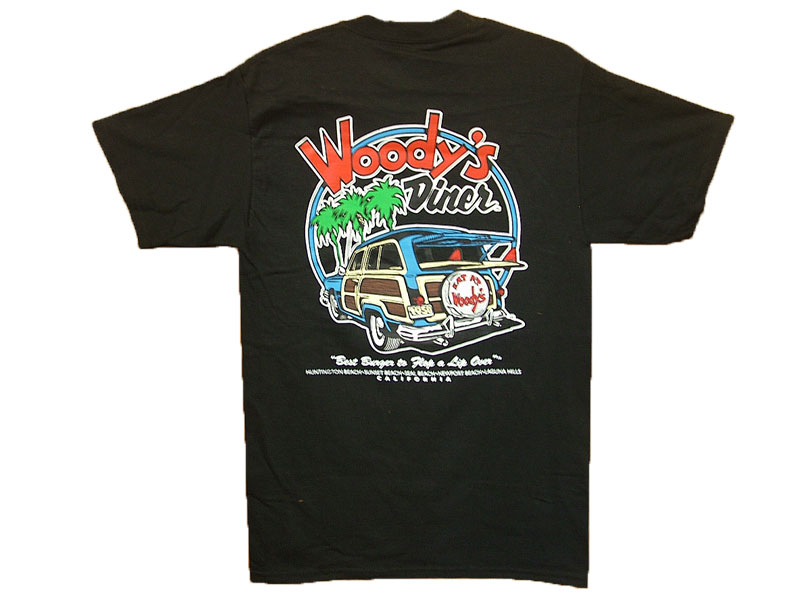 WOODY'S DINER T-SHIRT COLOR:BLACK SIZE:M