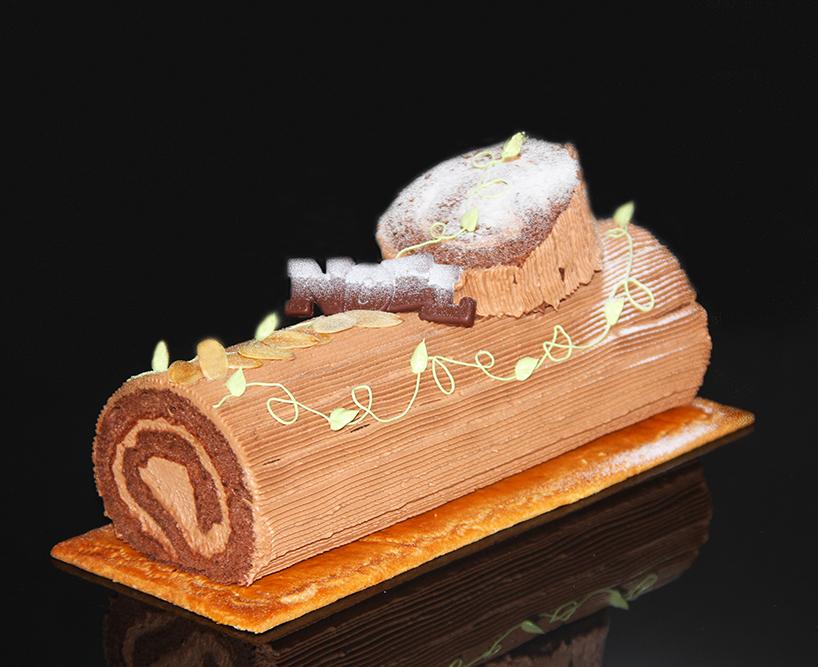 【クリスマスケーキ2019】チョコロールケーキノエル(小)【長さ約16cm】【デリカショップ 店舗お受け取り商品】【店頭お渡し期間:12月14日から25日まで】