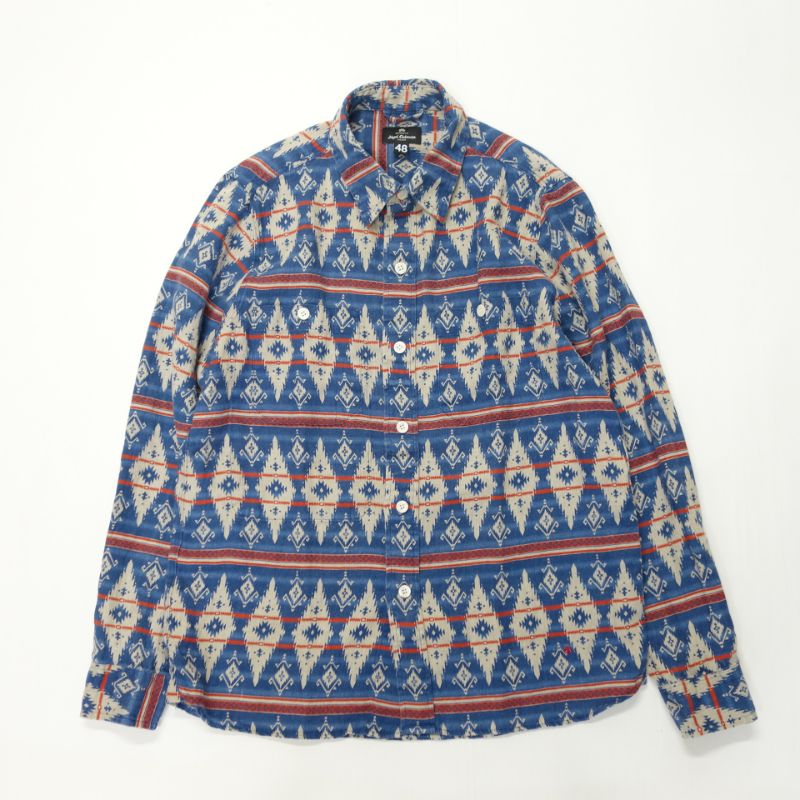 Nigel Cabourn JOE SHIRT - PRINTED LINEN