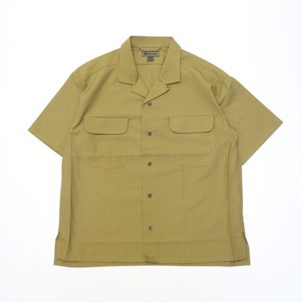 Nigel Cabourn OPEN COLLARED SHIRT S/S PANAMA