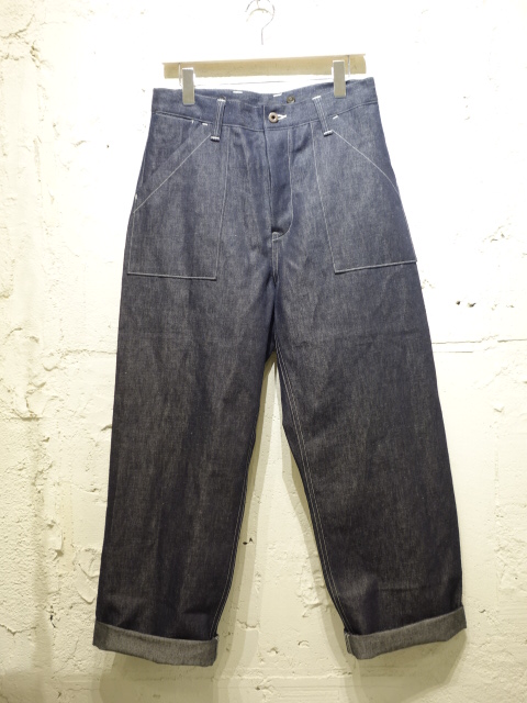 Nigel Cabourn DECK PANT COTTON/LINEN DENIM
