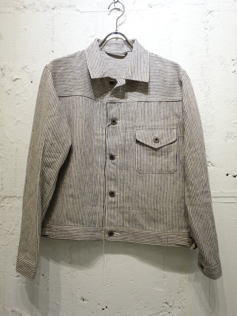 Nigel Cabourn BATTLE DRESS JK LINEN HICKORY
