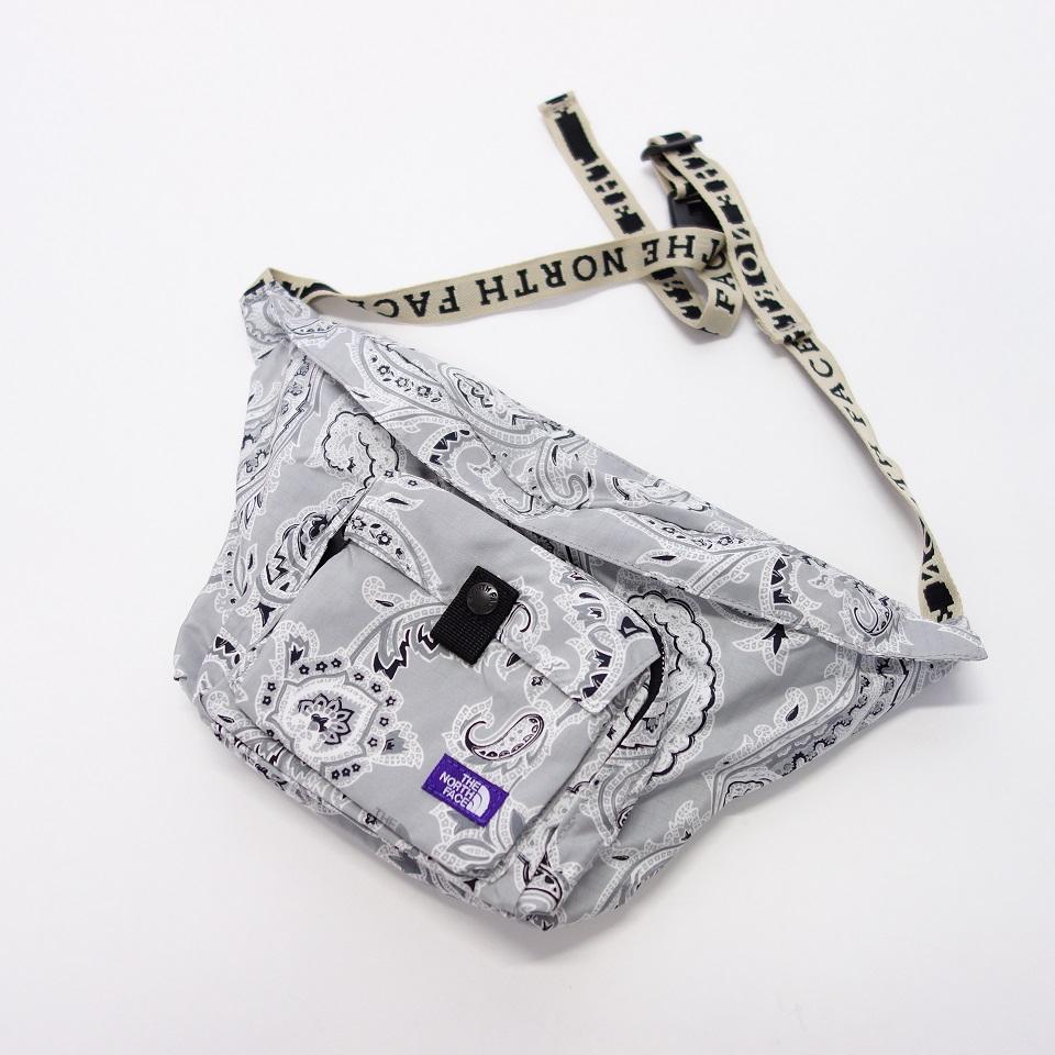 THE NORTH FACE PURPLE LABEL Paisley Print Logo Tape Lightweight Waist Bag