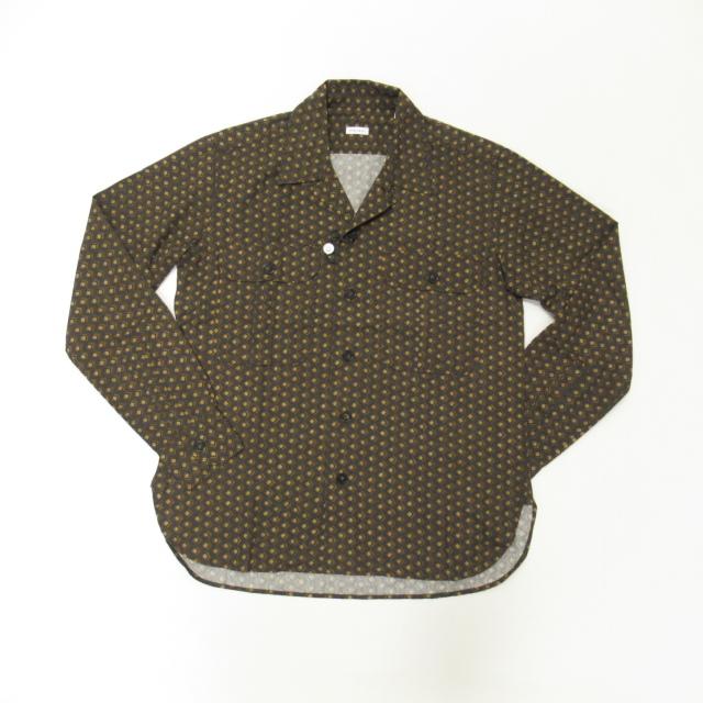 02P010-60 ORIAN(オリアン)オープンカラー長袖シャツ