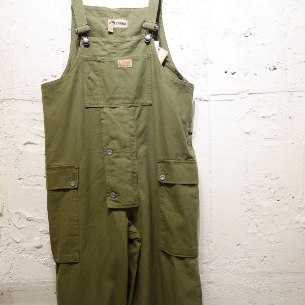 Nigel Cabourn NAVAL DUNGAREE MIX-CANVAS+HERRINGBONE