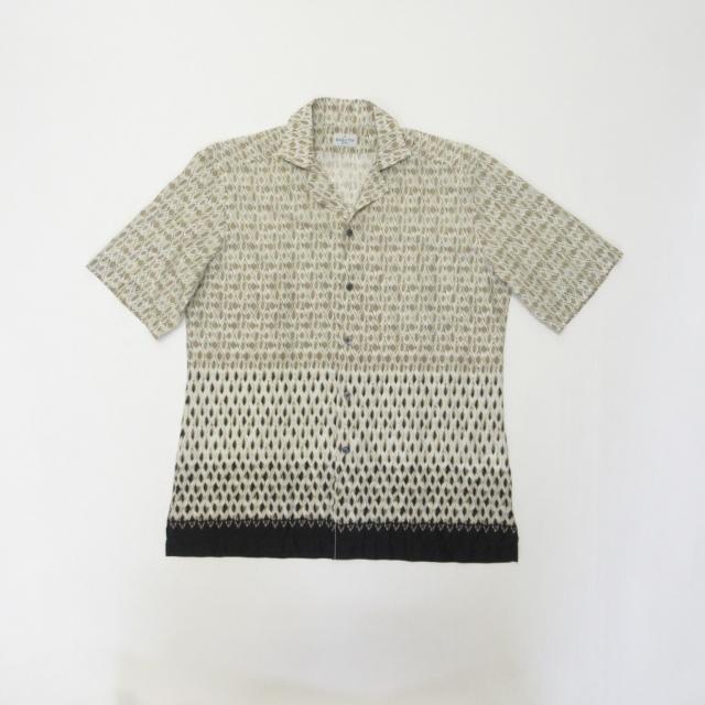 MAUI_GM10005-651 BAGUTTA (バグッタ) 半袖オープンカラープリントシャツ