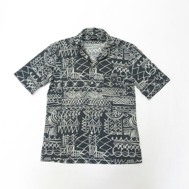 MAUI_GMR09986-680 BAGUTTA (バグッタ) 半袖オープンカラープリントシャツ