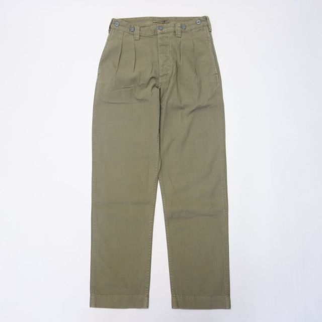 Nigel Cabourn LYBRO PLEATED CHINO HERRINGBONE