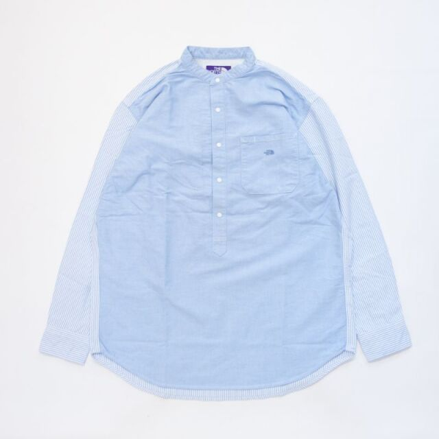 THE NORTH FACE PURPLE LABEL Cotton Polyester OX Band Collar Shirt