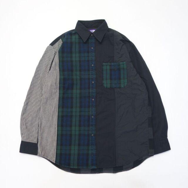 THE NORTH FACE PURPLE LABEL Plaid Patchwork Shirt