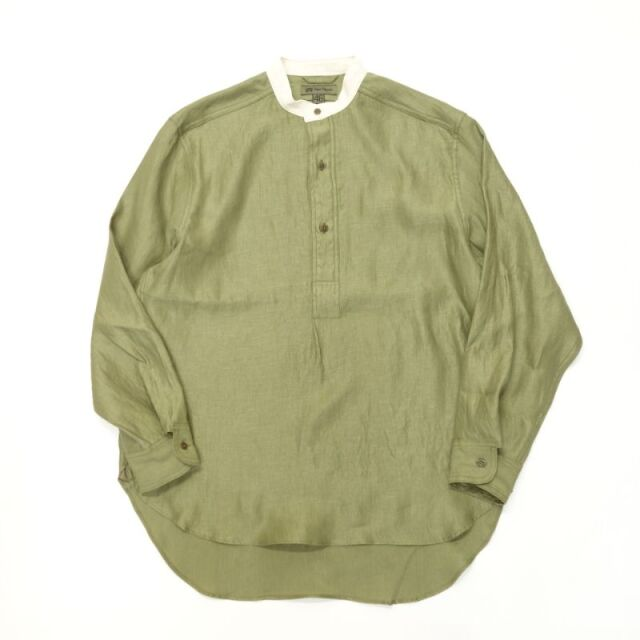 Nigel Cabourn BRITISH ARMY PULL OVER SHIRT - LINEN TWILL