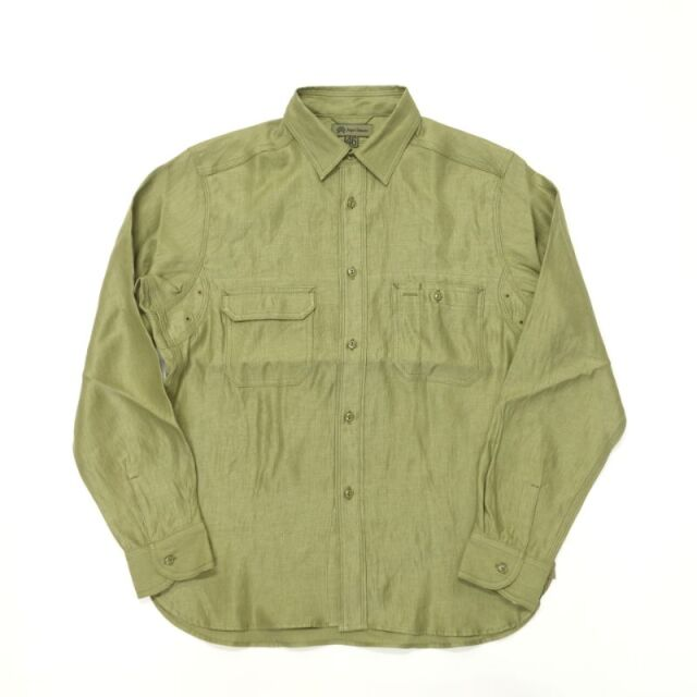 Nigel Cabourn 20'S ENGINEER SHIRT - LINEN TWILL