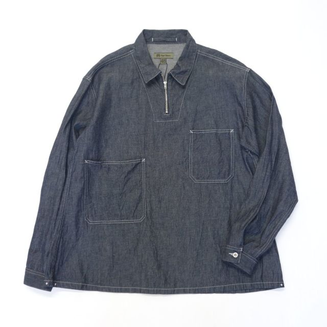 Nigel Cabourn 20'S POH SHIRT - COTTON LINEN DENIM 【SALE】