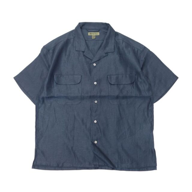 Nigel Cabourn OPEN COLLAR SHIRT - LINEN TWILL