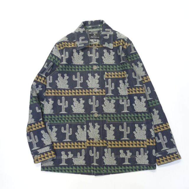 Nigel Cabourn CACTUS WORK JACKET - JACQUARD JAPANESE DENIM