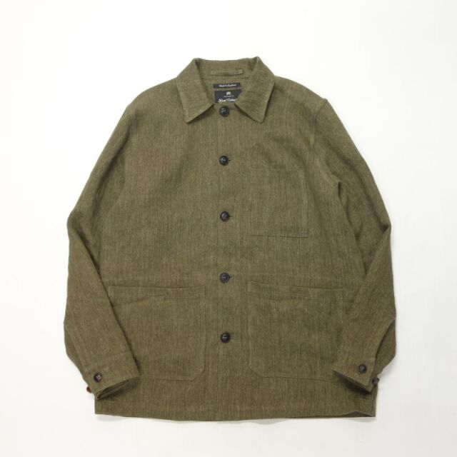 Nigel Cabourn WORK JACKET - LINEN YARN DYED HERRINGBONE