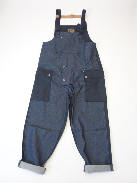 Nigel Cabourn NAVAL DUNGAREE 8.0oz Japanese Denim/Herringbone