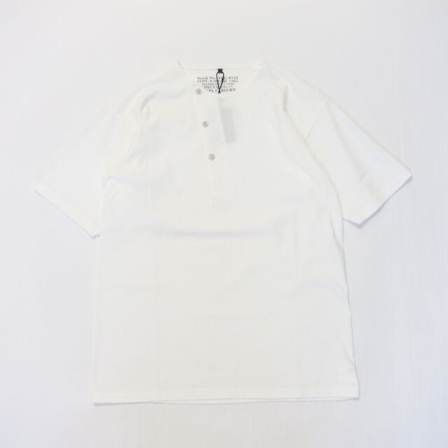 Nigel Cabourn 50'S DIAGONAL HENLEY NECK - SHORT SLEEVE