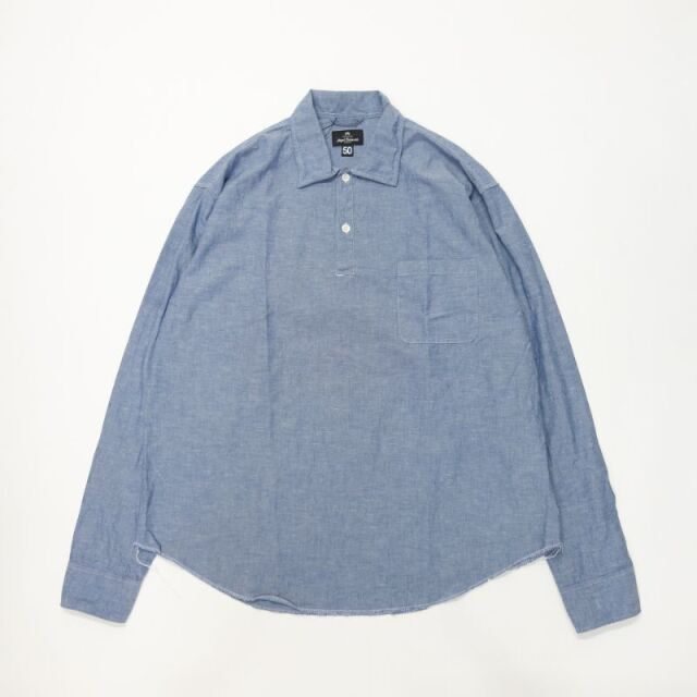 Nigel Cabourn LONG SLEEVE POH - COTTON LINEN