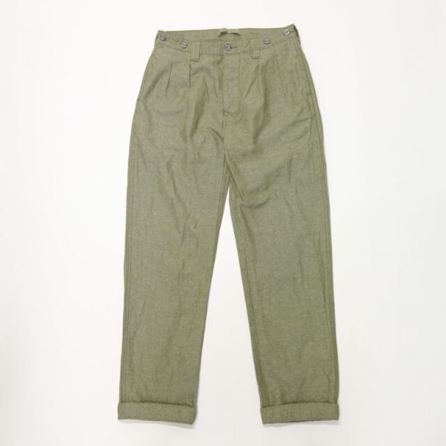 Nigel Cabourn LYBRO PLEATED CHINO - COTTON LINEN