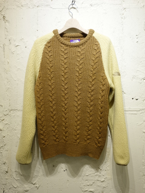 THE NORTH FACE PURPLE LABEL Cable Crew Neck Sweater 【SALE】