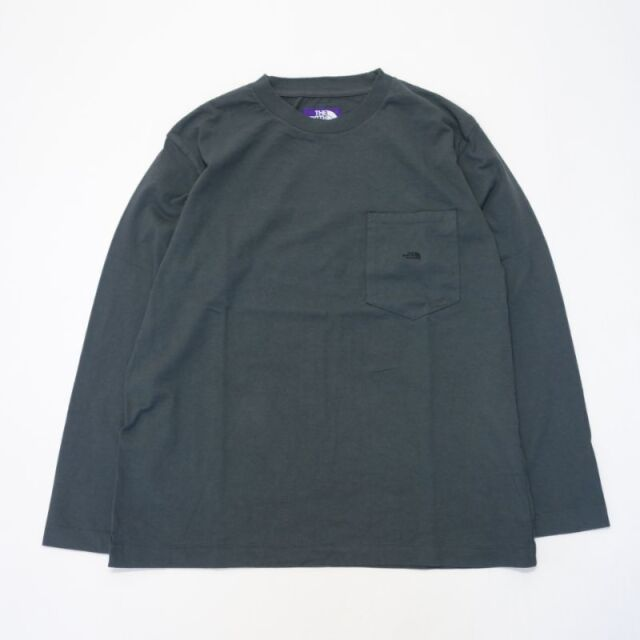 THE NORTH FACE PURPLE LABEL 7oz L/S Pocket Tee 【SALE】