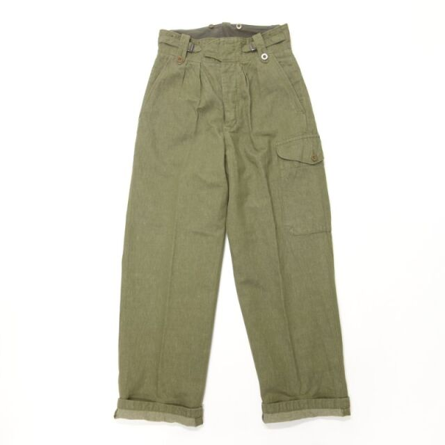 Nigel Cabourn BATTLE DRESS PANT - COTTON LINEN DENIM