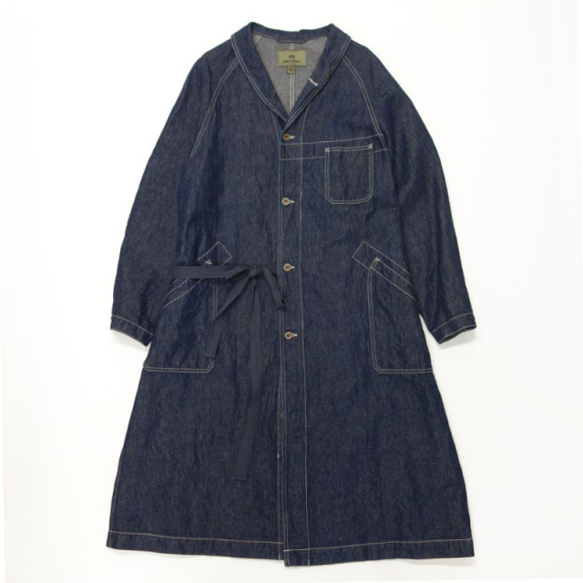 Nigel Cabourn 40`S ENGINEER COAT - COTTON LINEN DENIM
