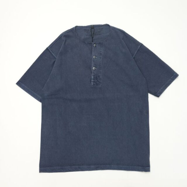 Nigel Cabourn 50`S HENLEY NECK SHIRT - PIGMENT