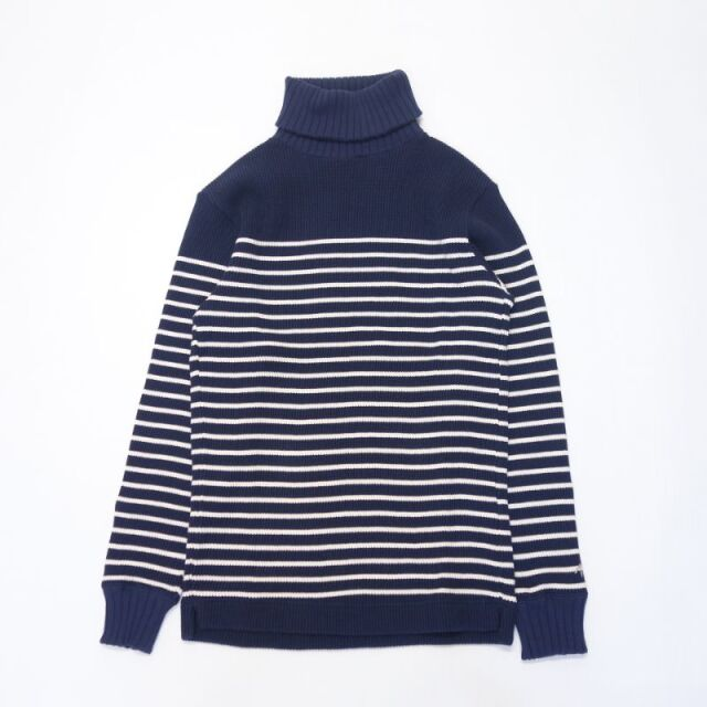 Nigel Cabourn TURTLE NECK PANEL BORDER