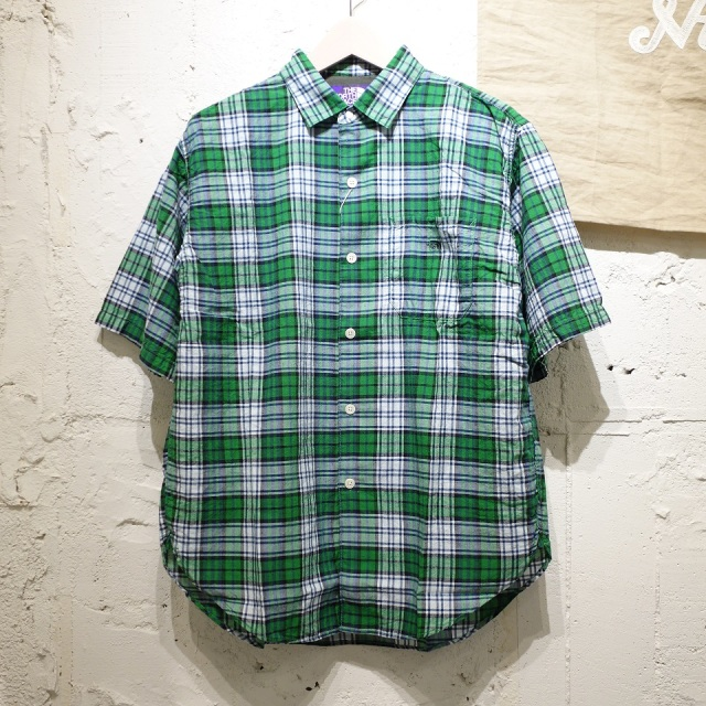 THE NORTH FACE PURPLE LABEL Madras Big H/S Shirt