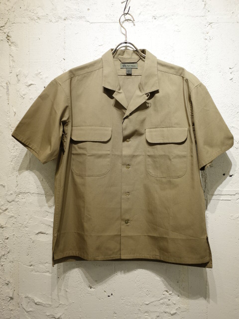 Nigel Cabourn OPEN COLLARED WIDE SHIRT S/S DRY POPLIN