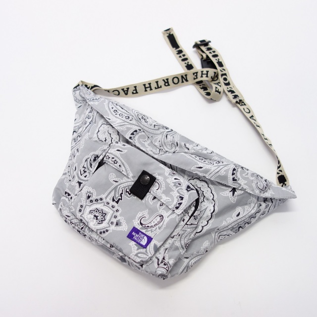 THE NORTH FACE PURPLE LABEL Paisley Print Logo Tape Lightweight Waist Bag