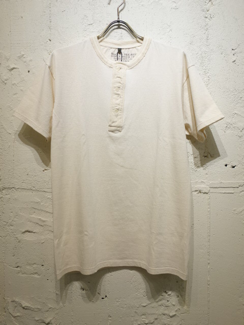 Nigel Cabourn VINTAGE HENLEY NECK SHORT SLEEVE